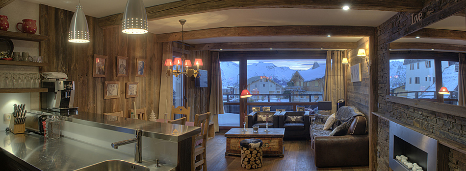 Travaux d 39 am nagement et de r novation d 39 appartements l - Interieur chalet montagne photo ...